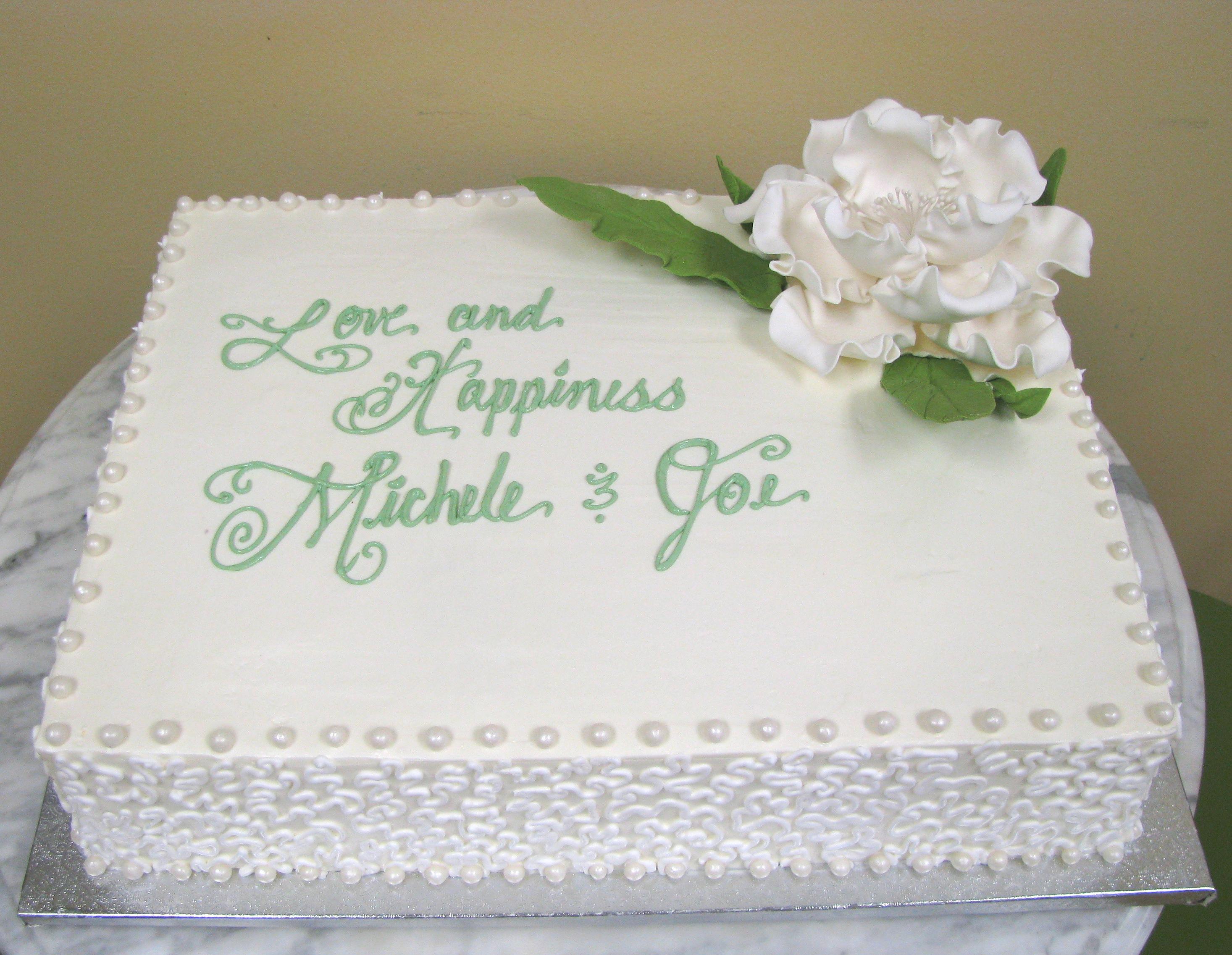 Lacey Sheet Cake