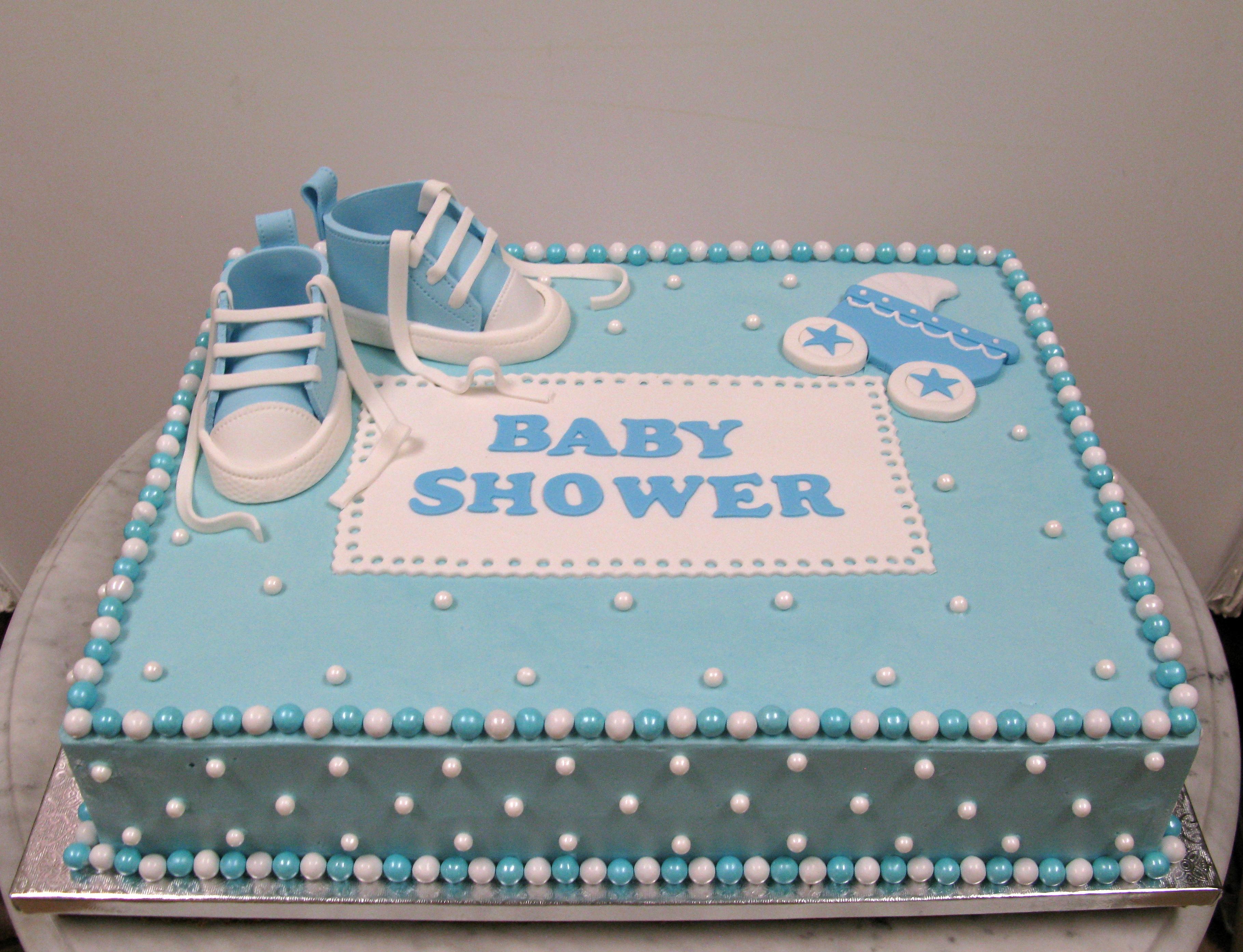 Sheet Cake For Baby Boy Shower