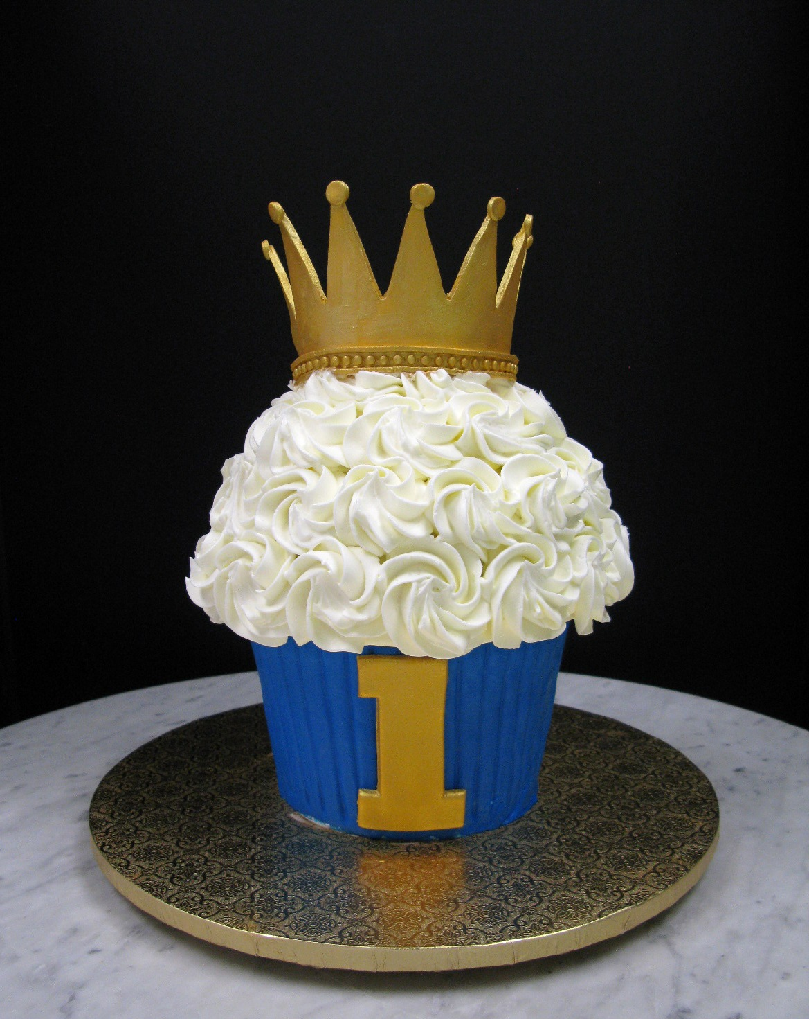 Large Cupcake with Crown