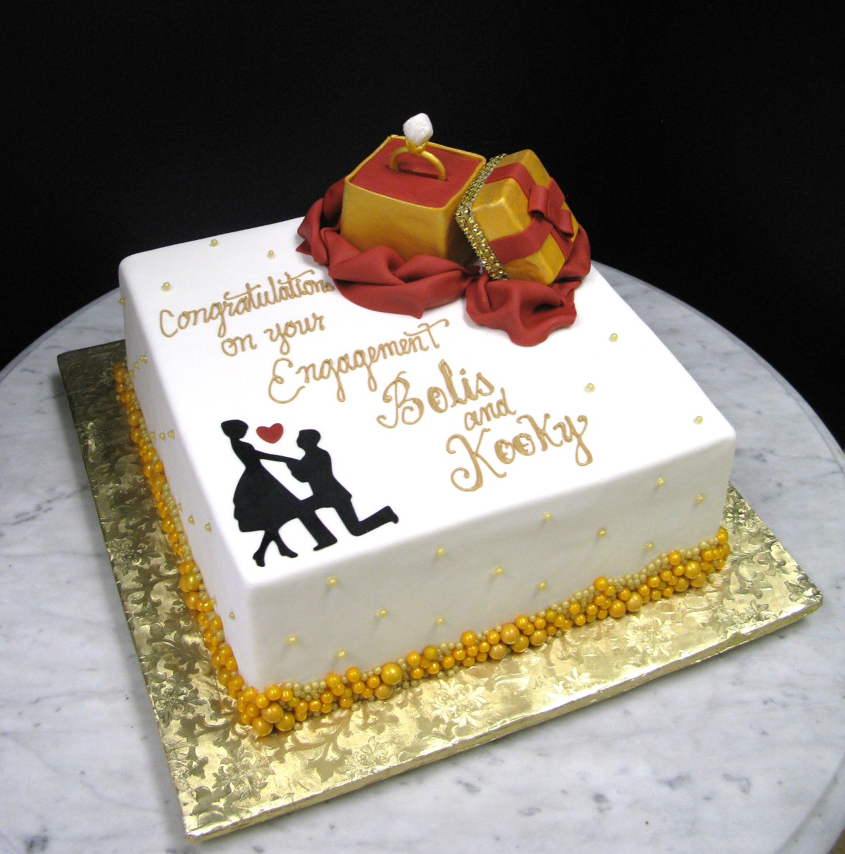 Square Engagement Design Mother Mousse