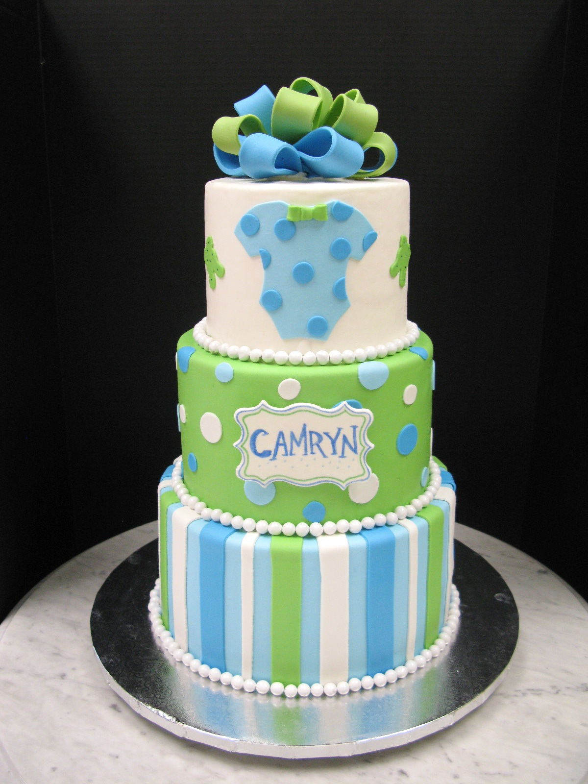 Green and Blue Baby Shower