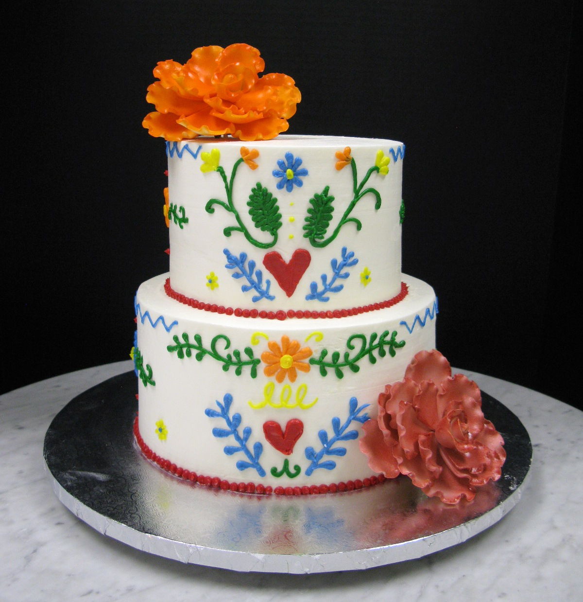 Mexico Themed Wedding Cake