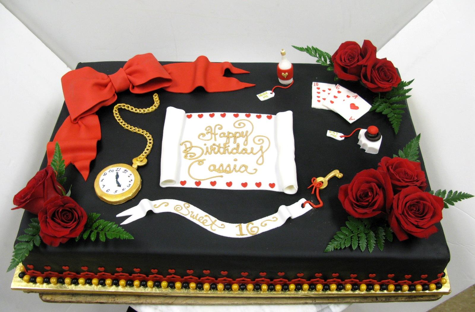 Alice in Wonderland Sheet Cake