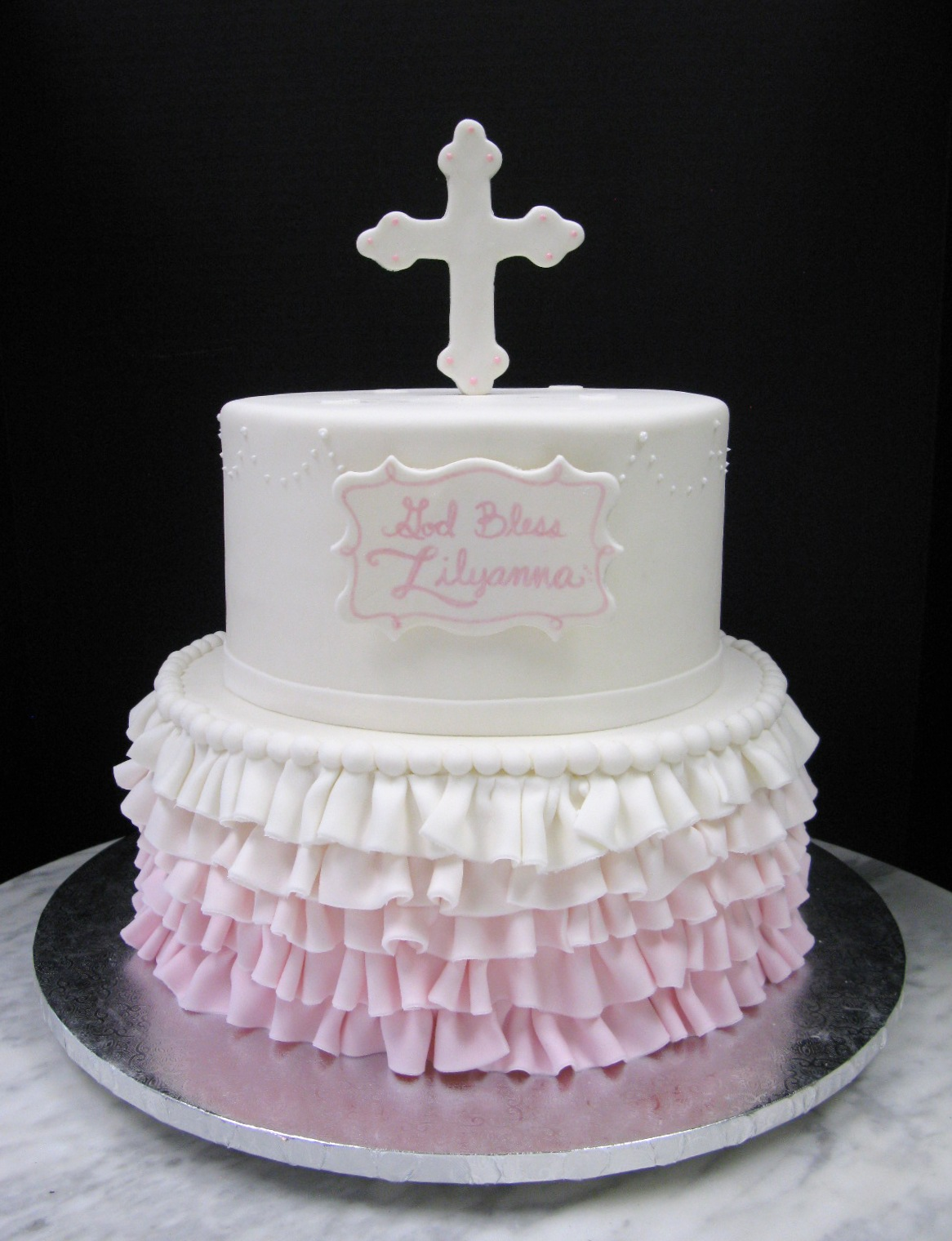 Ombre Ruffle Communion