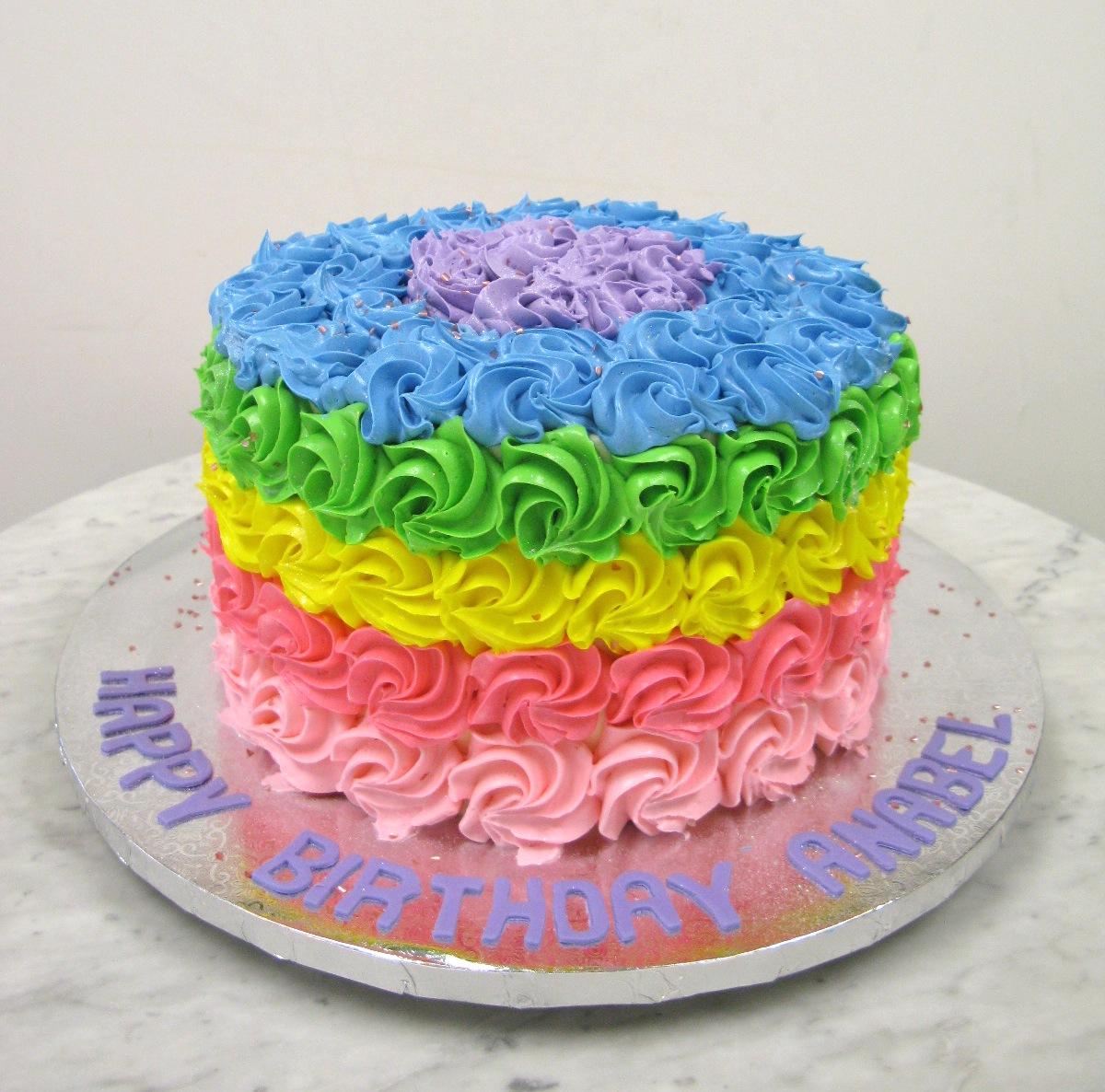 Rainbow Rosettes