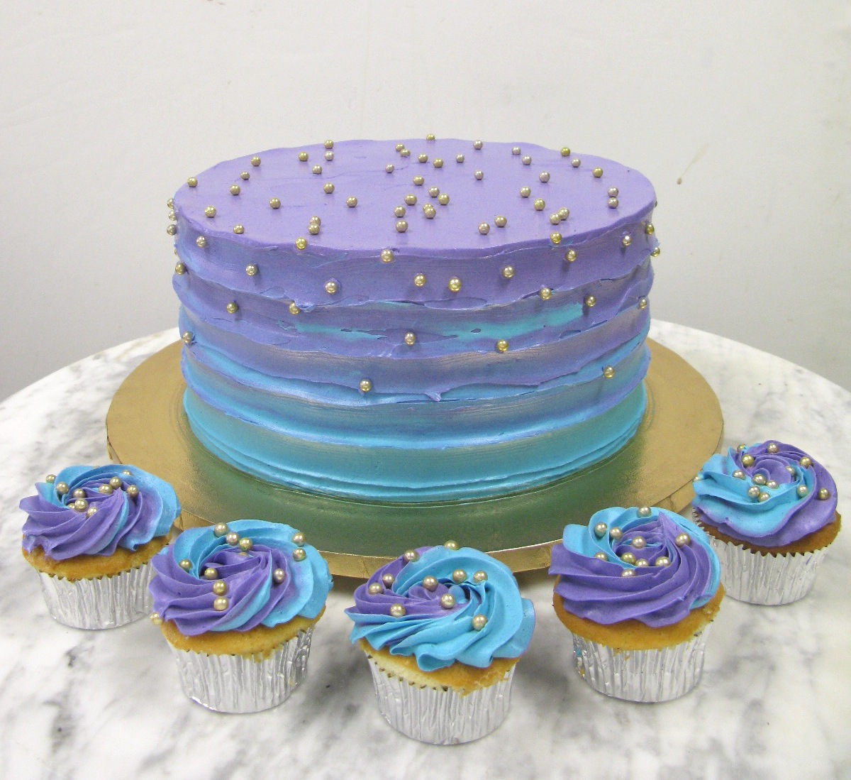 Teal and Purple Ombre