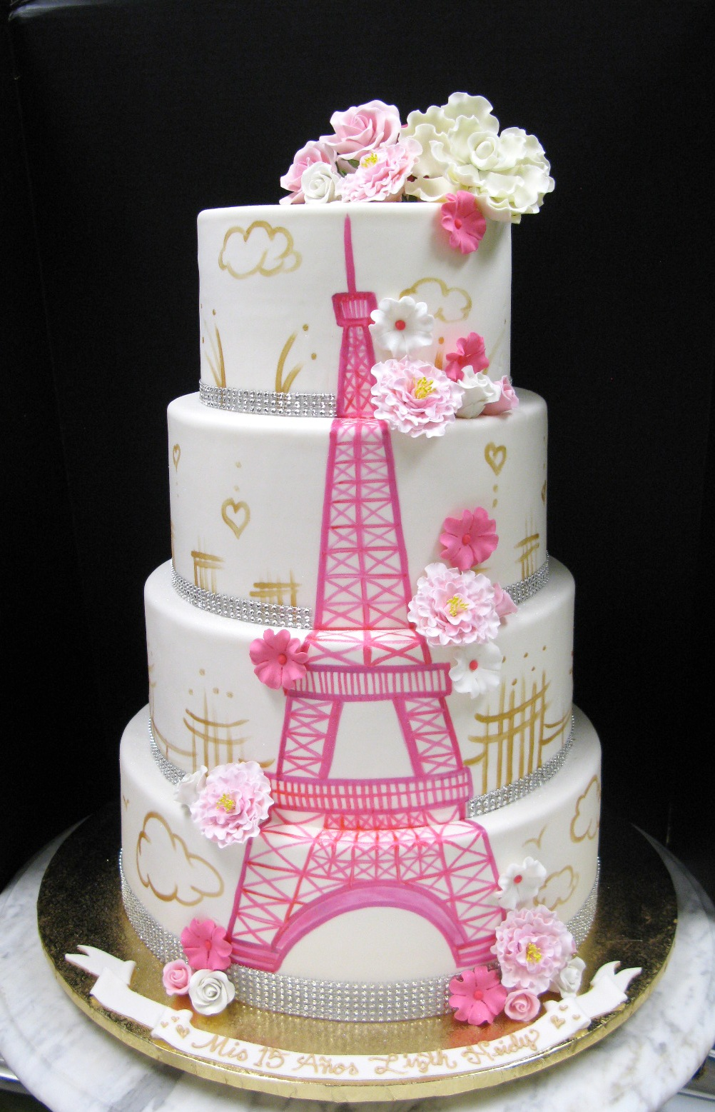 Hand-painted Eiffel Tower