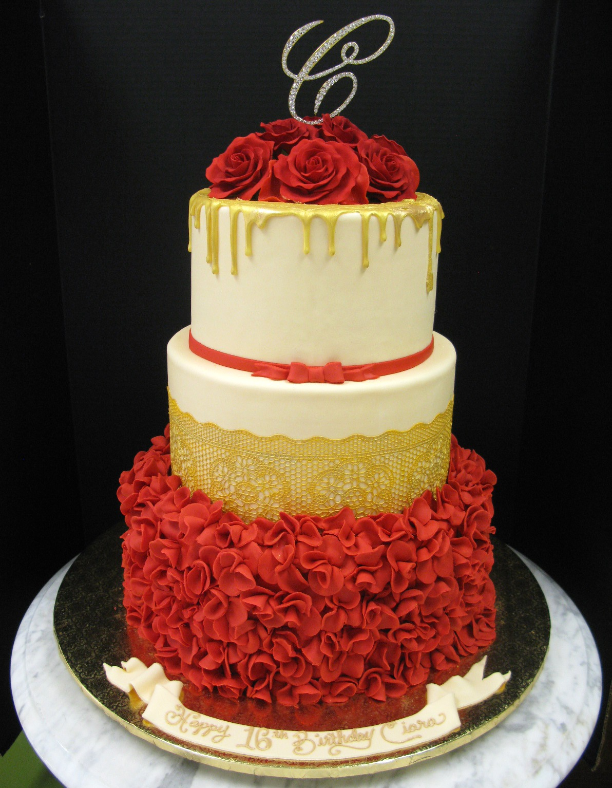 Red and Gold Elegance