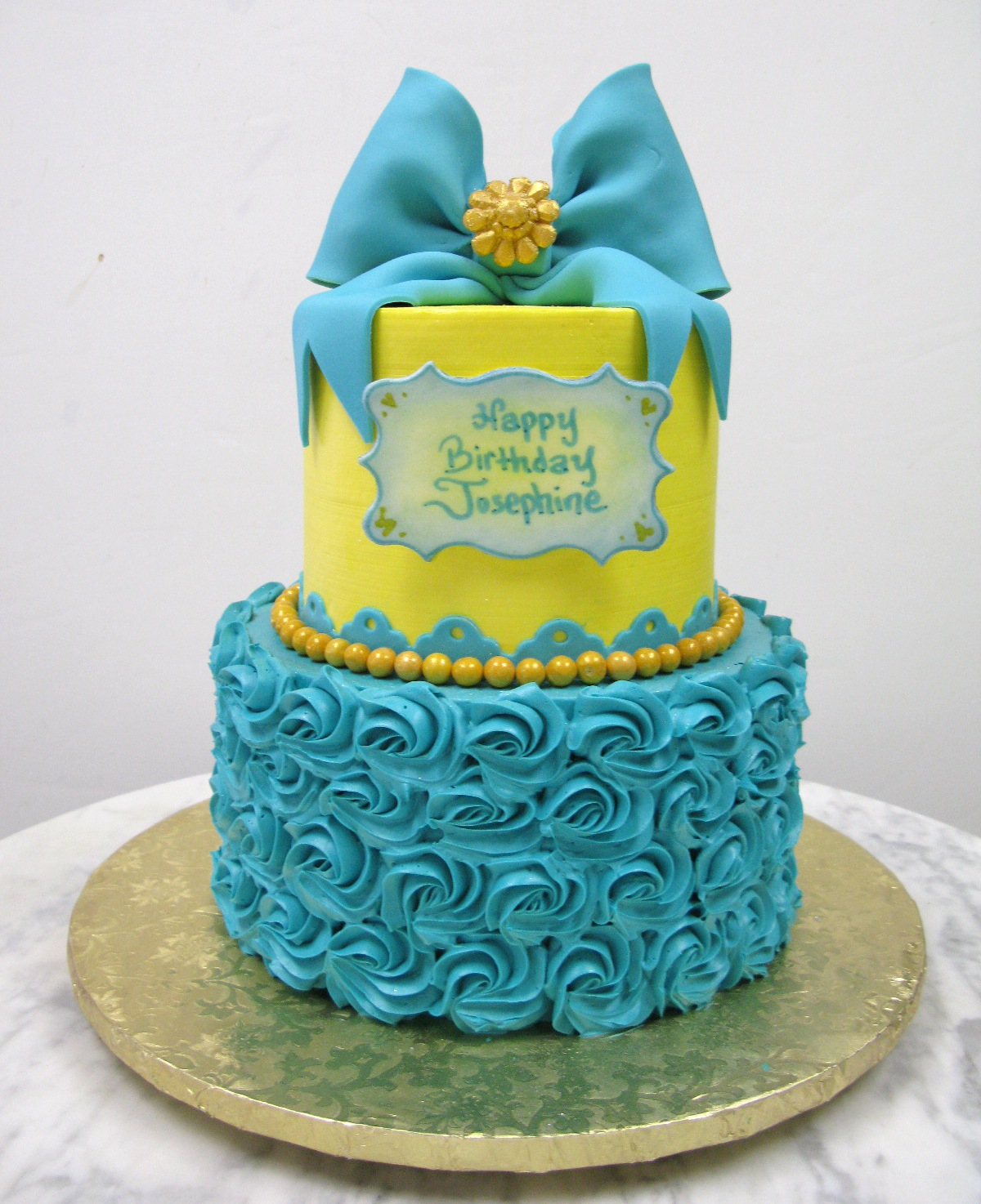 Teal And Yellow Birthday Mother Mousse