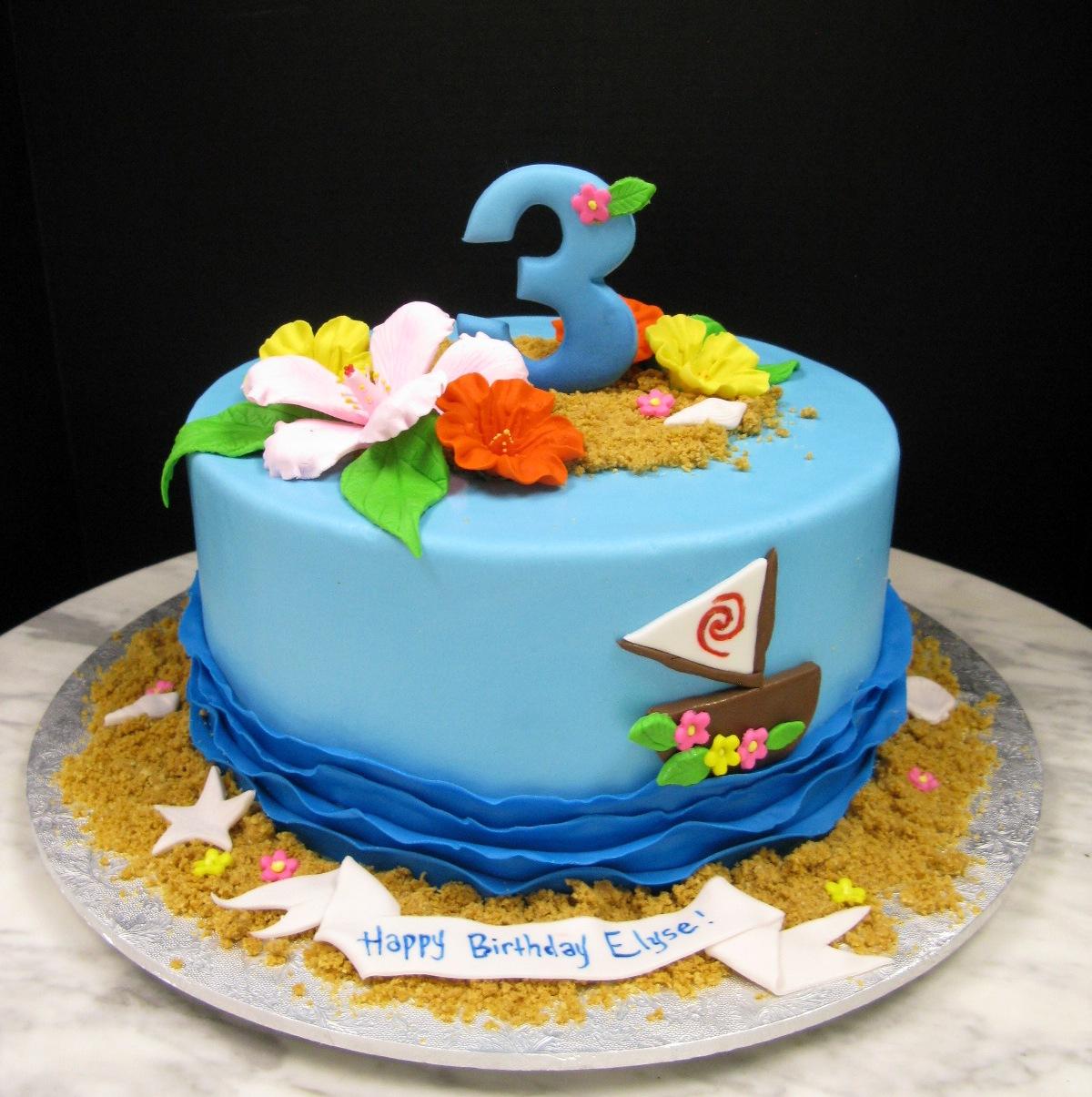 Moana-Inspired Cake