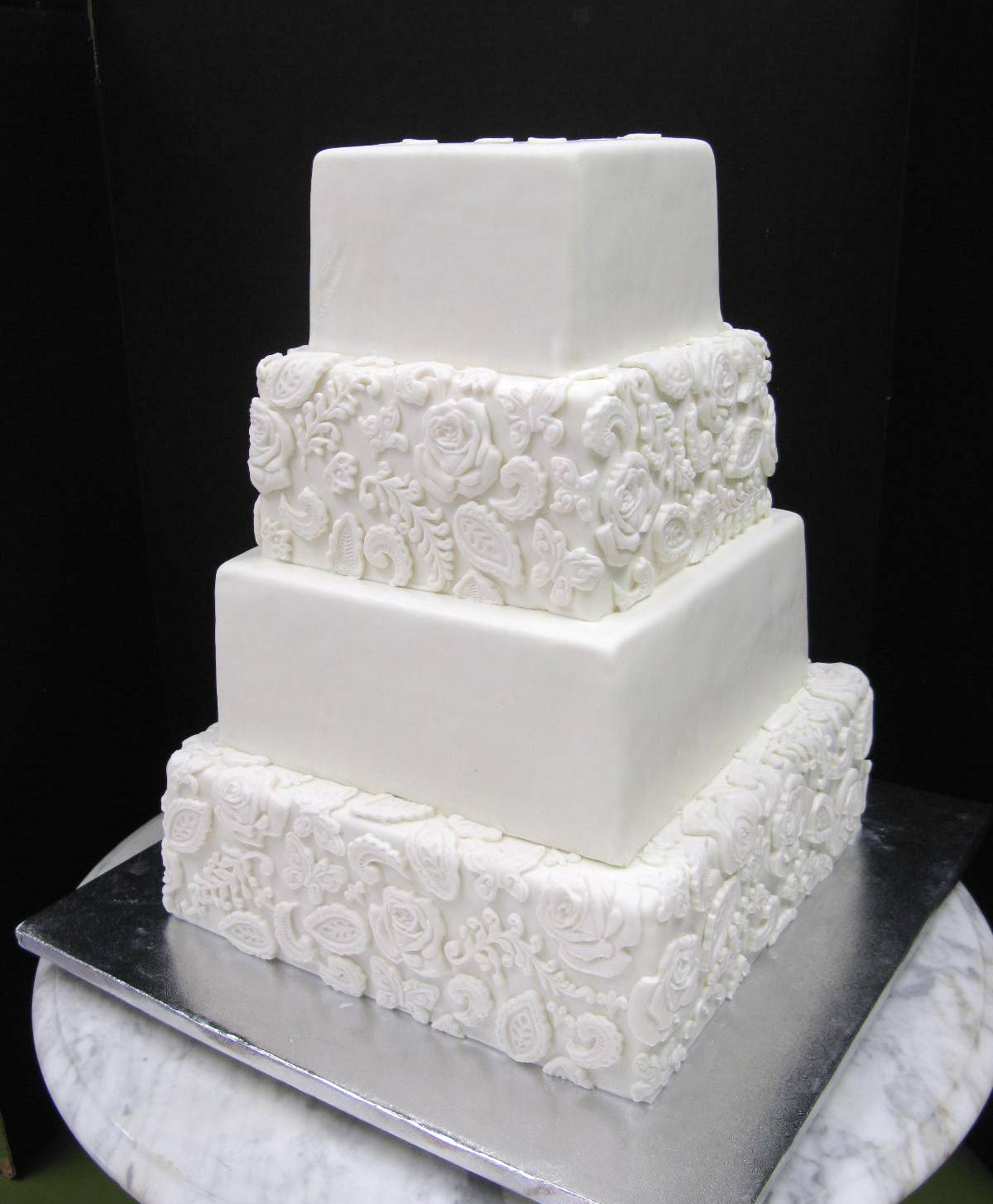 Fondant Molded Wedding Cake