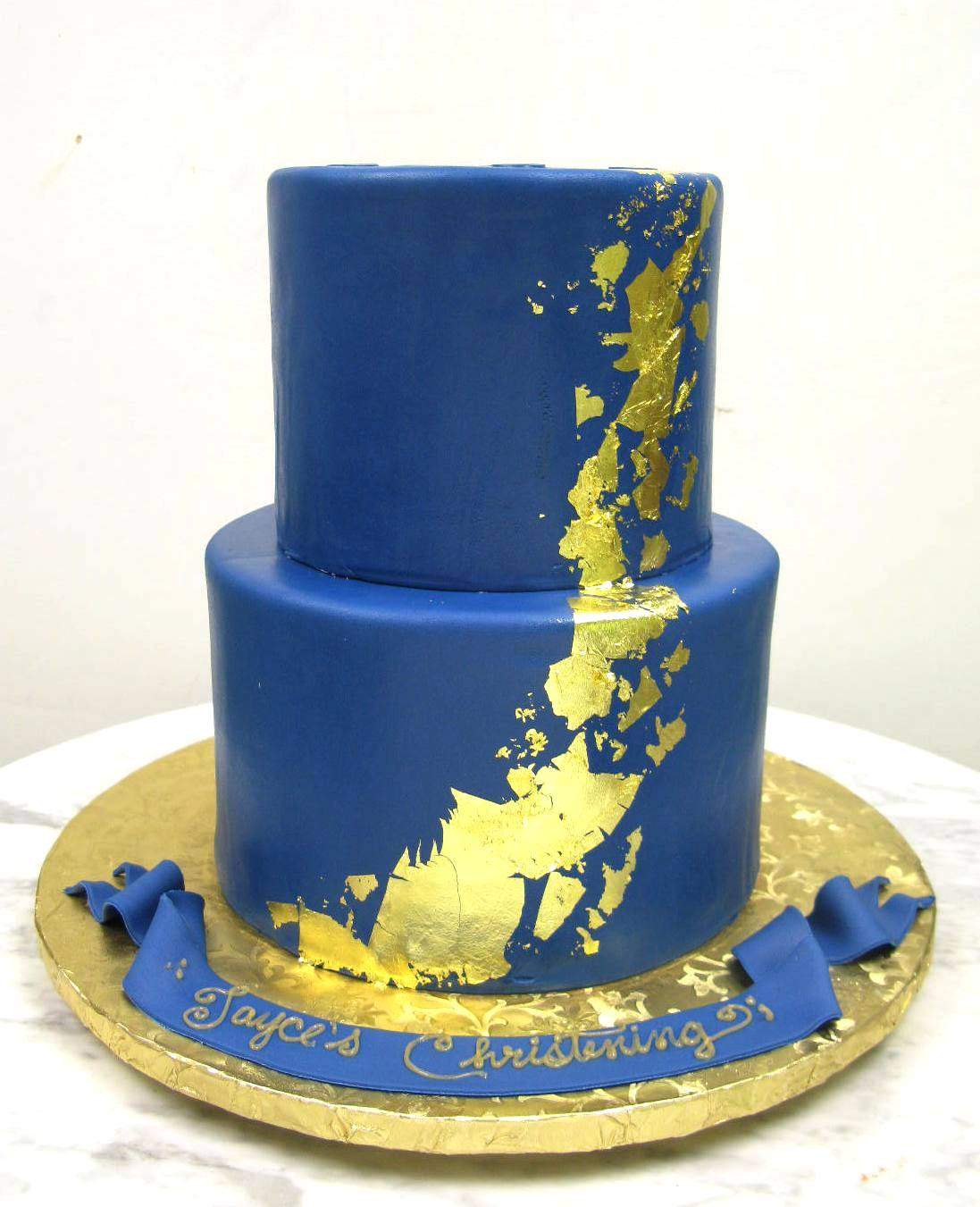 Navy with Gold Foil
