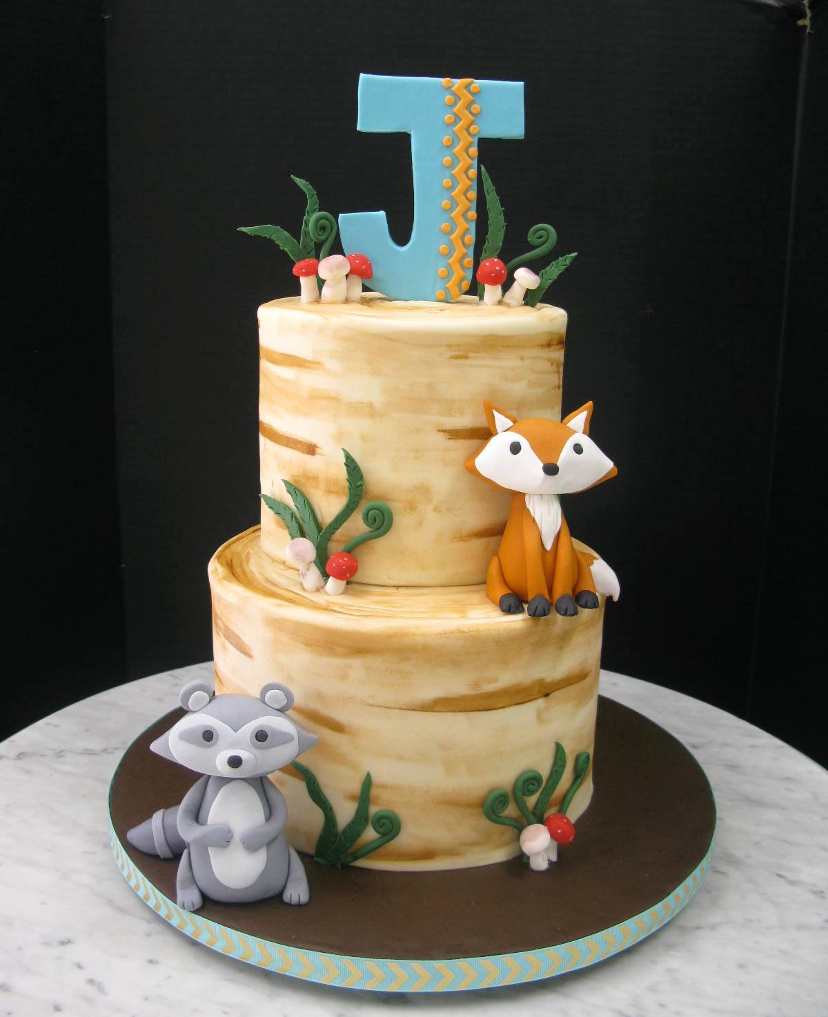 Woodland Painted Cake