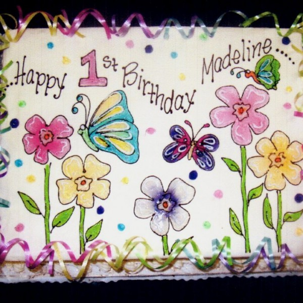 gel flowers and butterflies