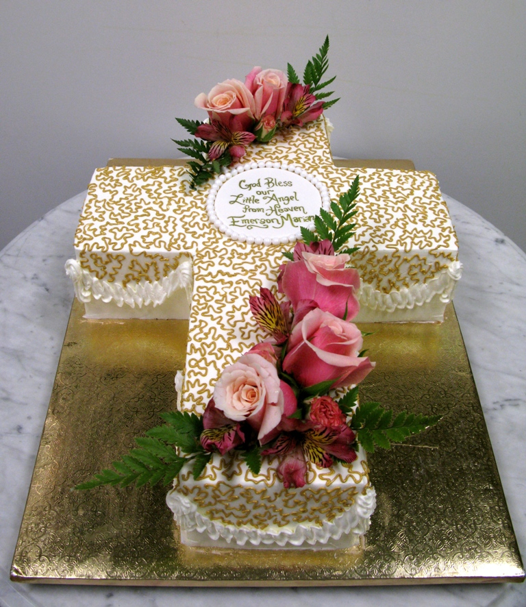 Gold Lace Cross