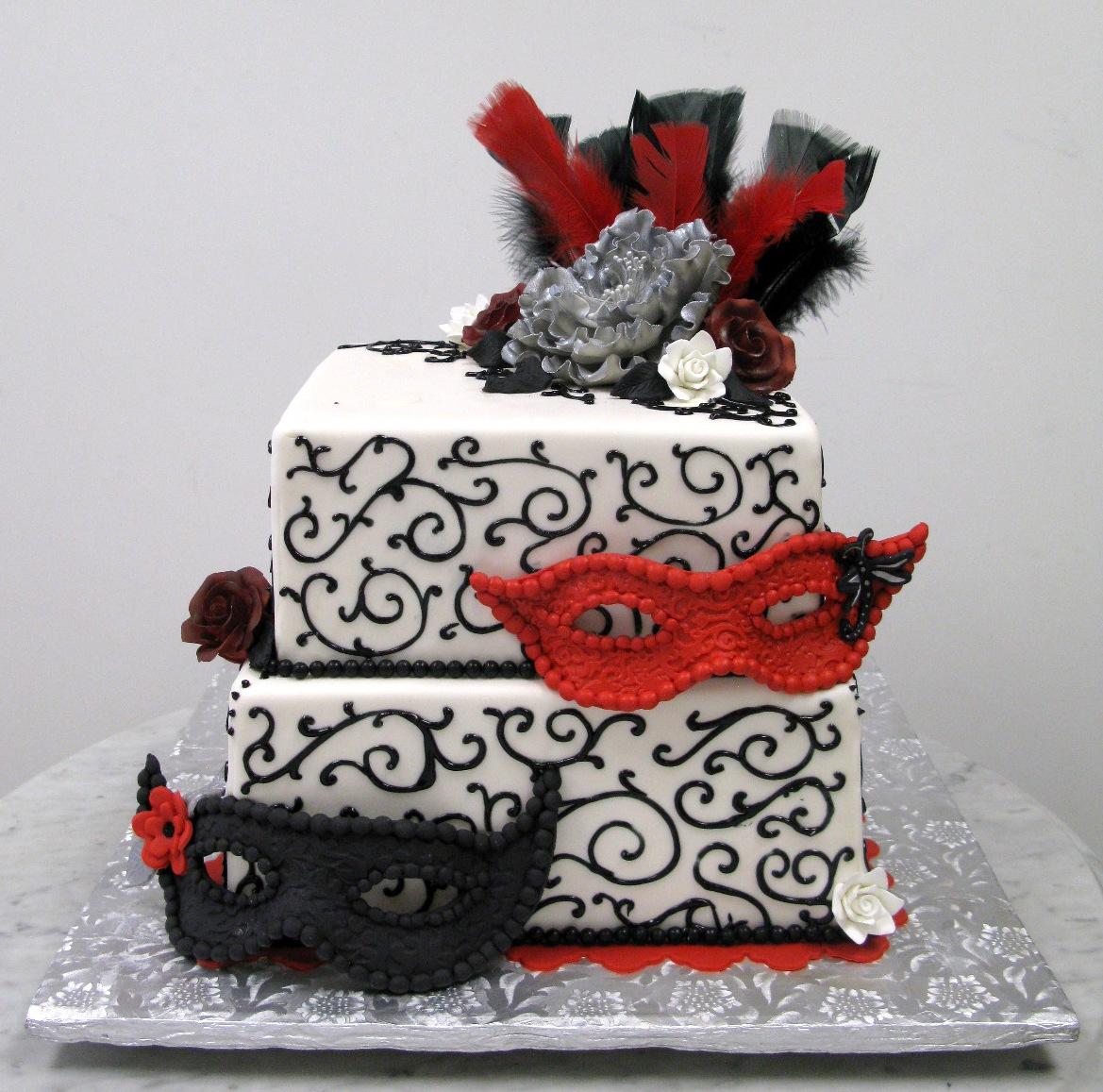 Masquerade, Red & Black