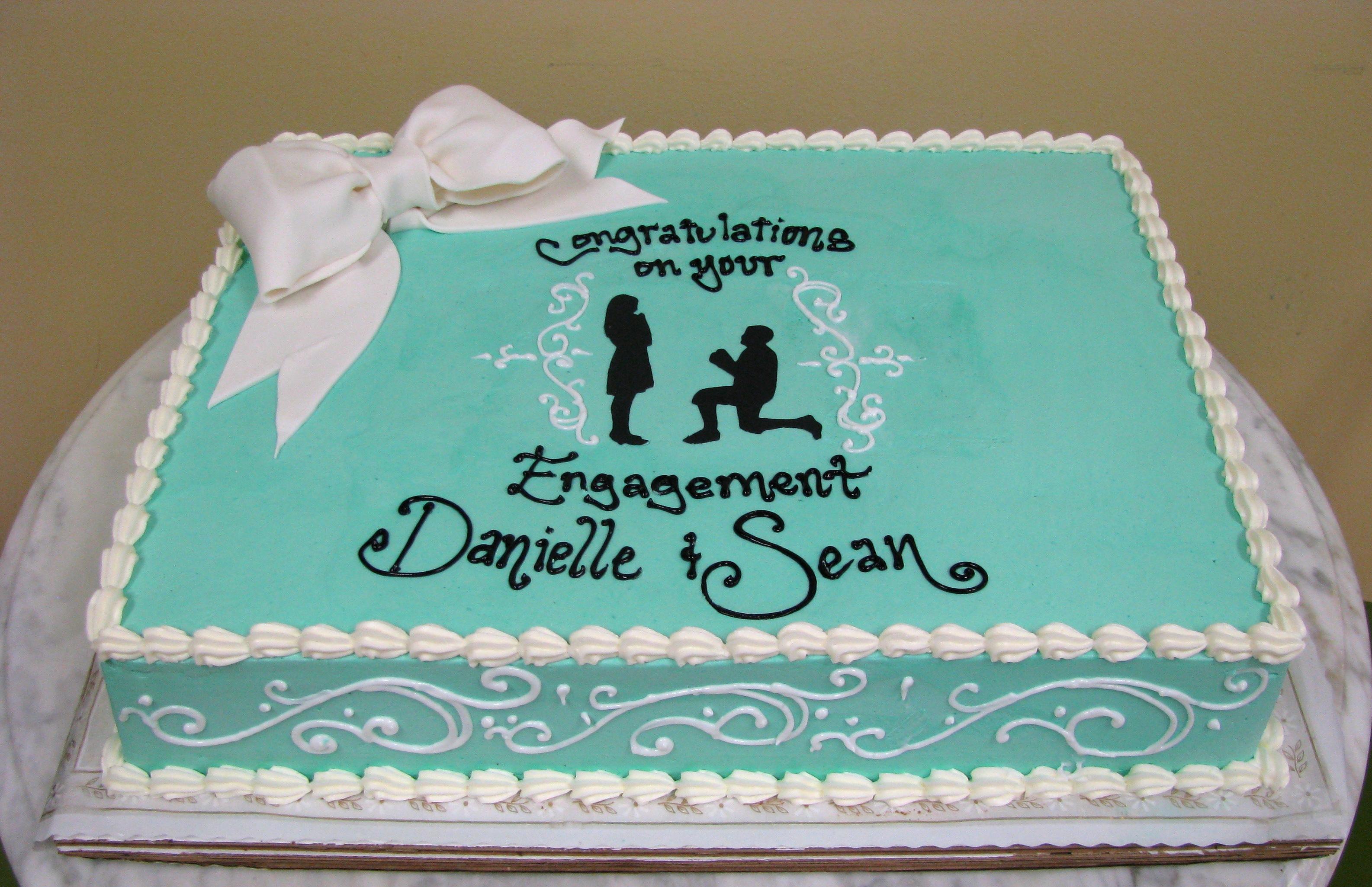 Proposal Sheet Cake