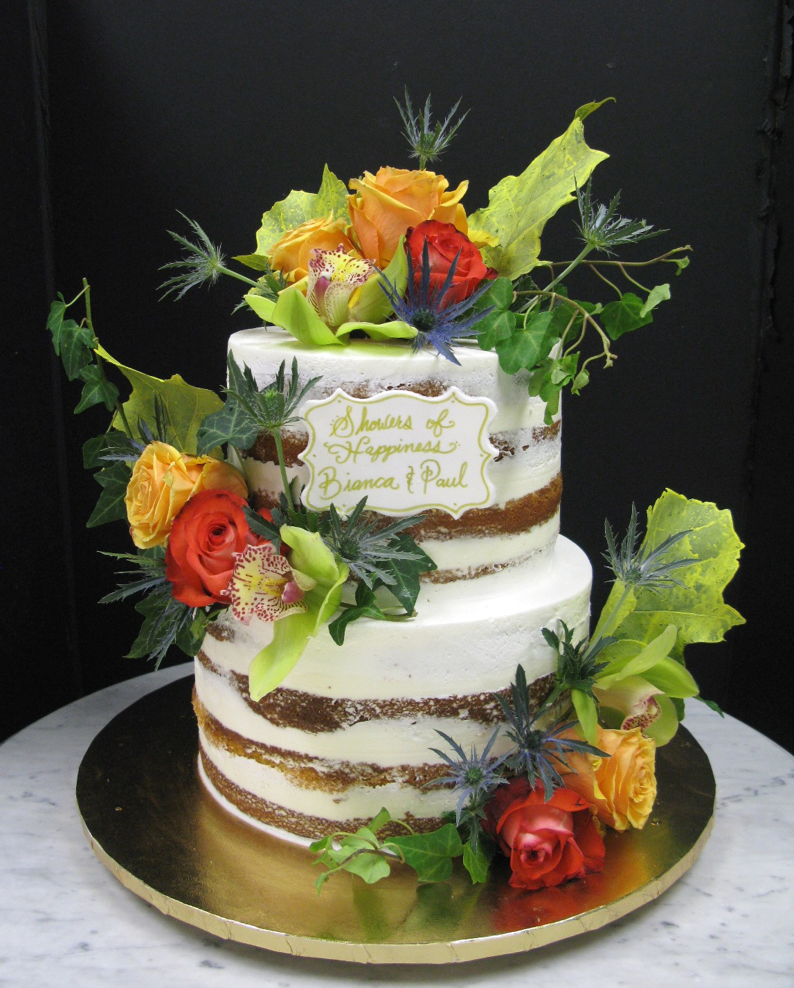 Autumn Naked Cake