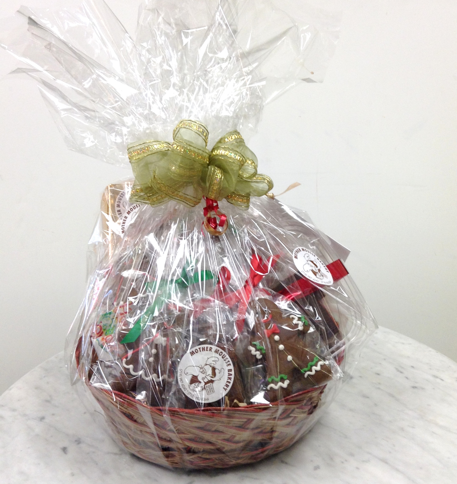 Gift baskets mother mousse wrapped gift basket negle Choice Image