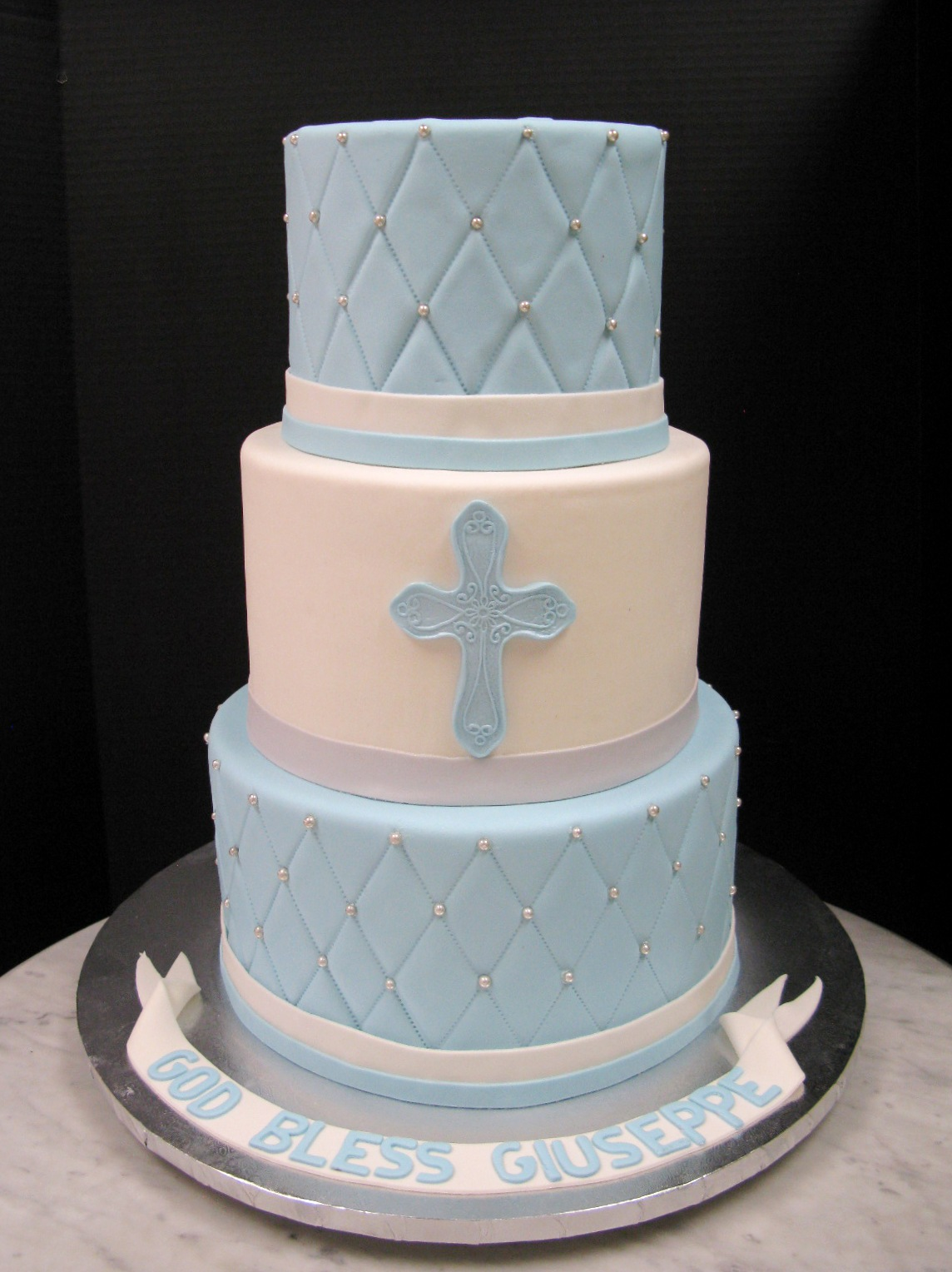 Tiered Quilted Christening