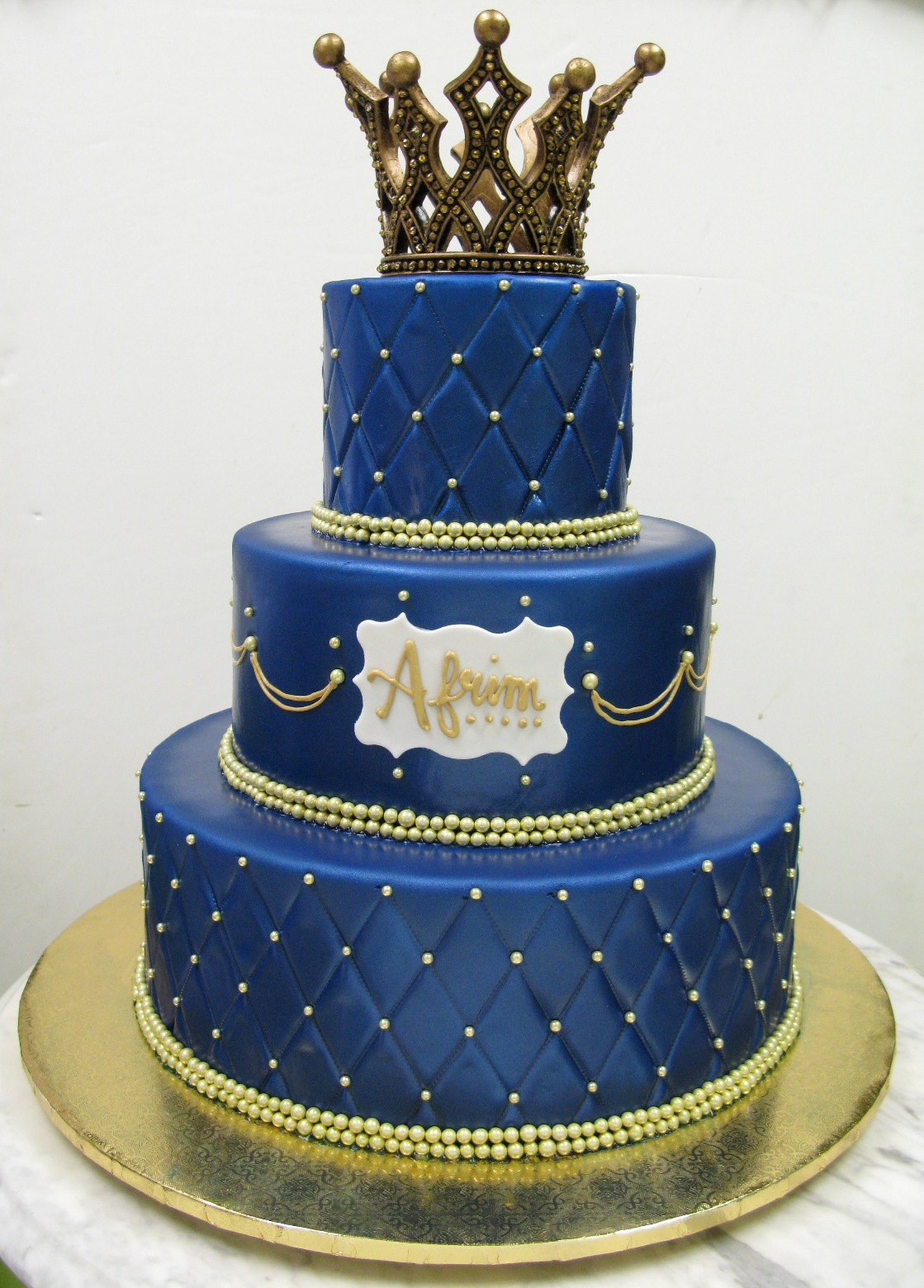 Crown Cakes Blue