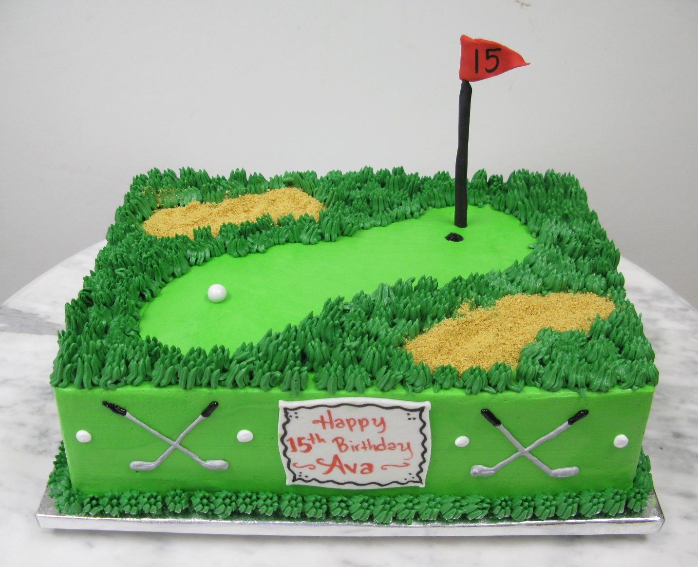 Golf Sheet Cake Ideas