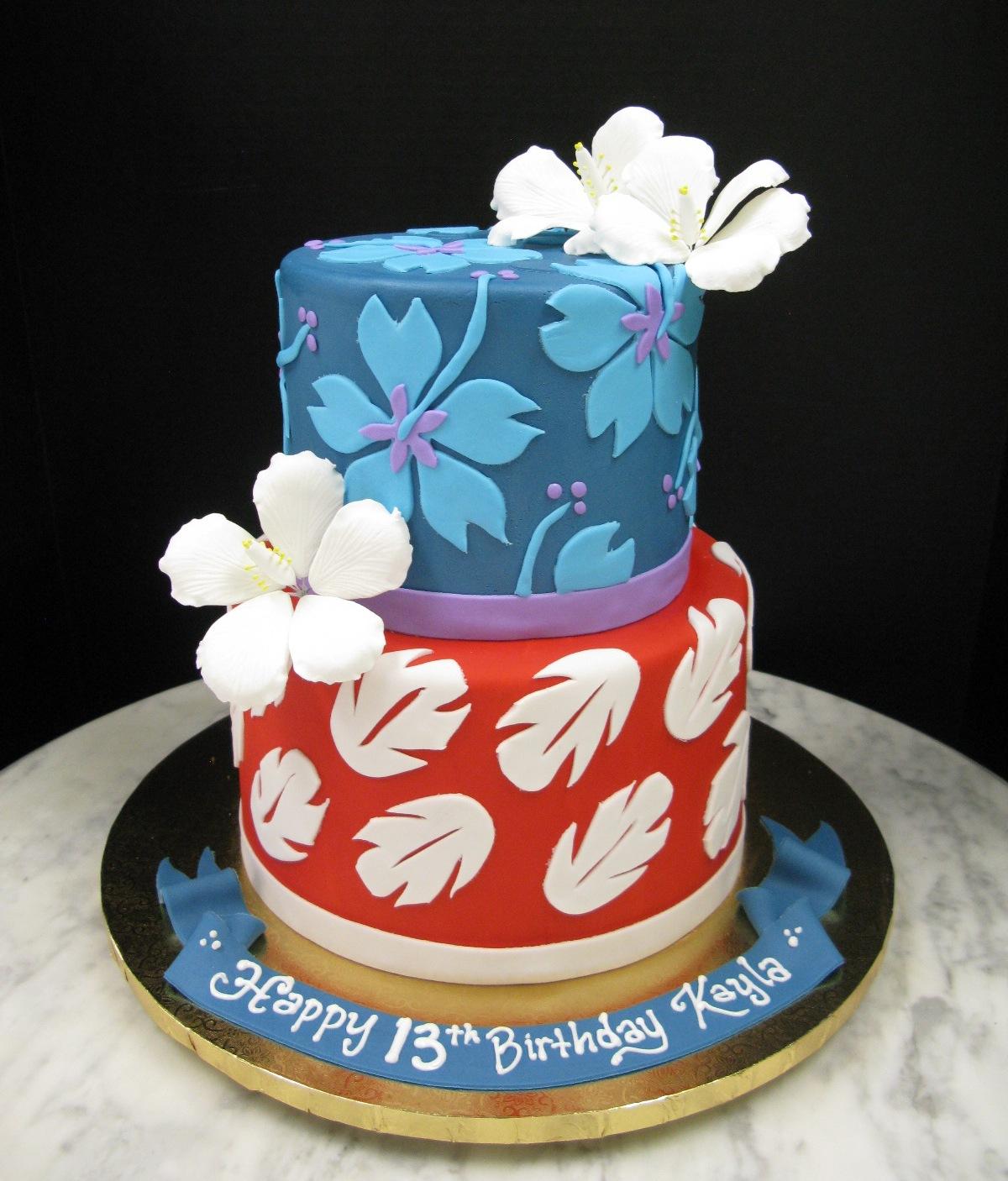 Disney Stitch Birthday Cake