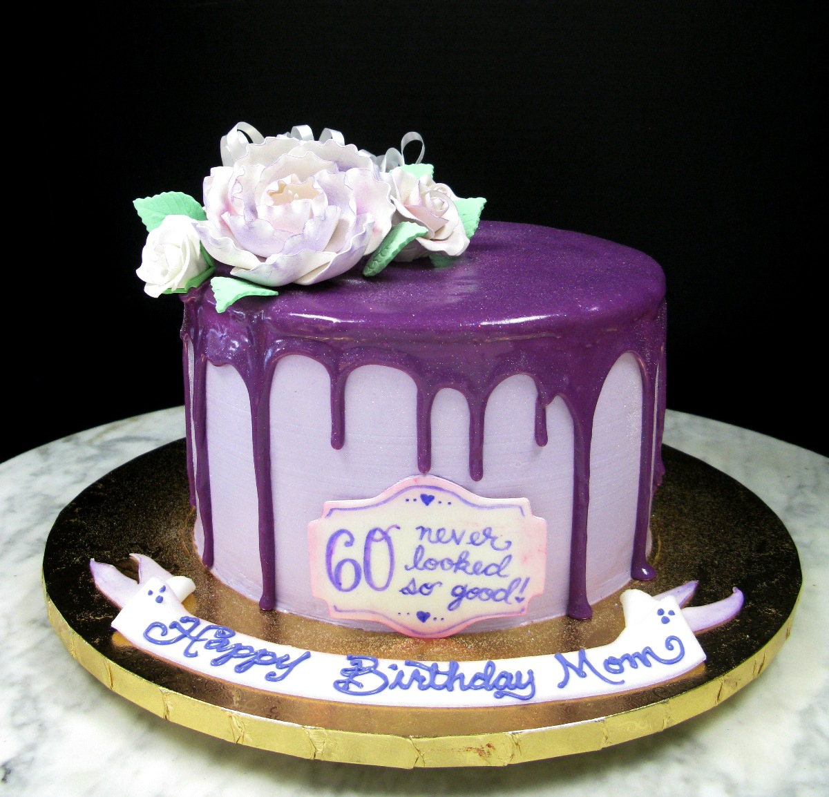 Purple Sparkly Drip Mother Mousse