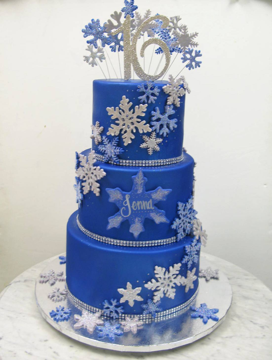 Royal Blue Snowflakes